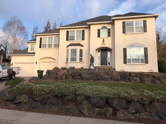 Lucky for this customer, this home only had EIFS on the front.