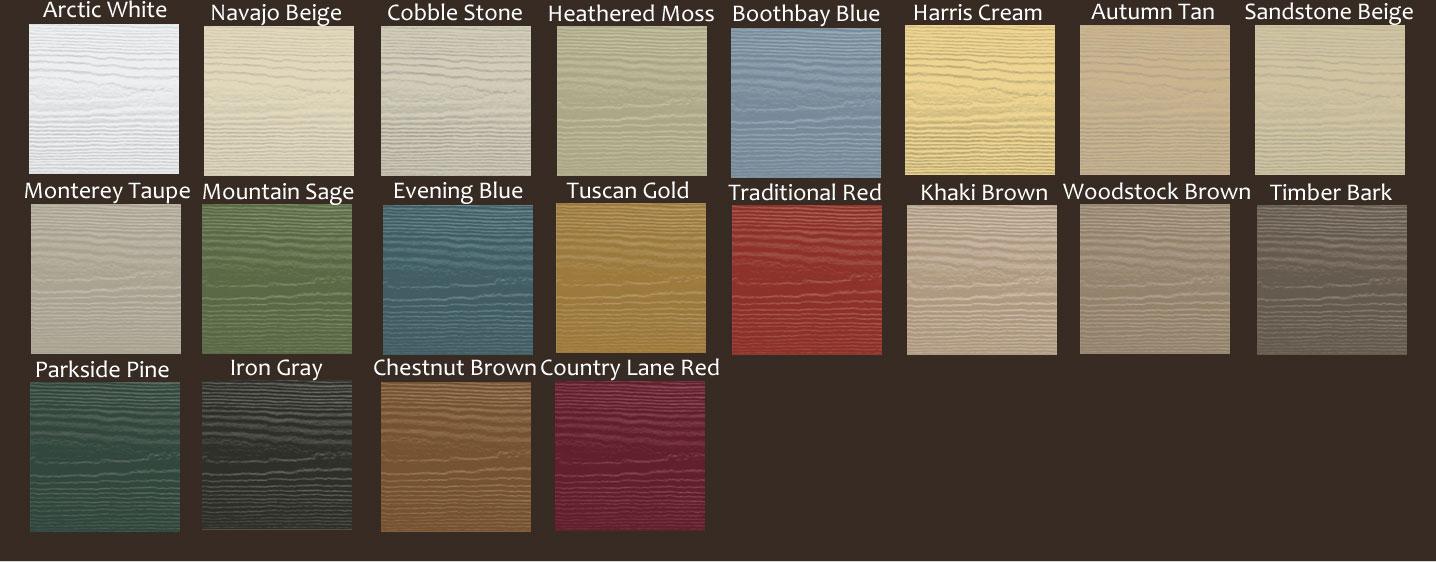 HardiePlank Colors