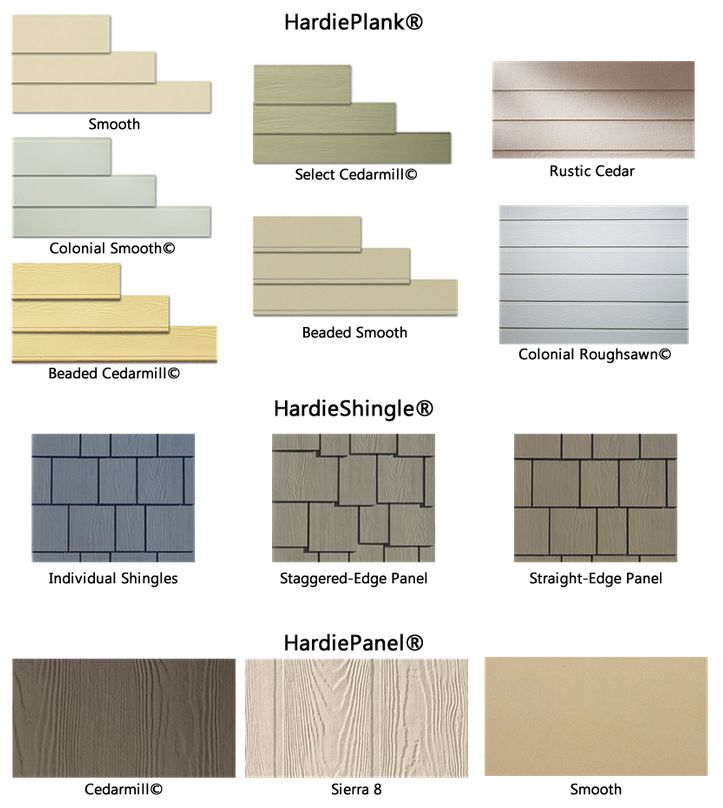 HardiePlank and HardieShingle samples